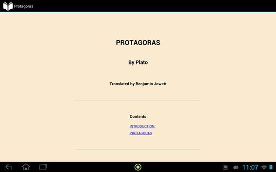 Protagoras by Plato apk screenshot