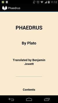 Phaedrus by Plato poster