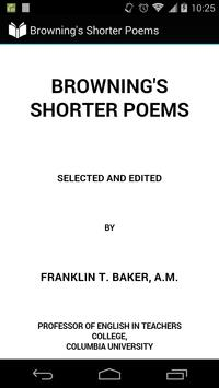 Browning's Shorter Poems poster