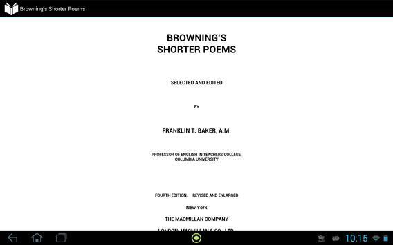Browning's Shorter Poems apk screenshot