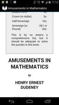 Amusements in Mathematics apk screenshot