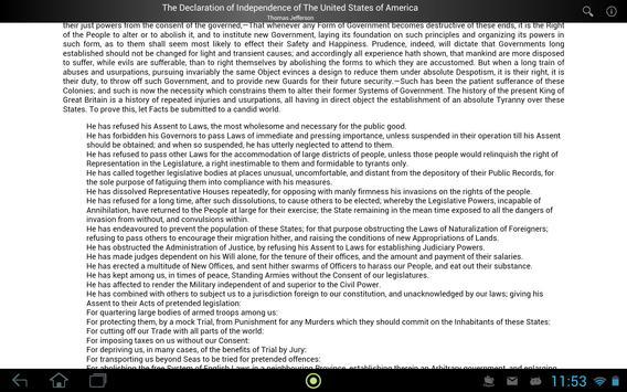 Declaration of Independence apk screenshot