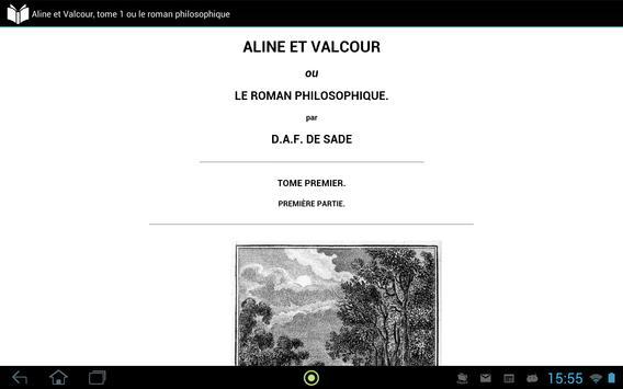 Aline et Valcour, tome 1 apk screenshot