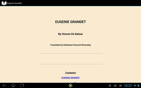 Eugenie Grandet apk screenshot