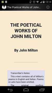 Poetical Works of John Milton poster