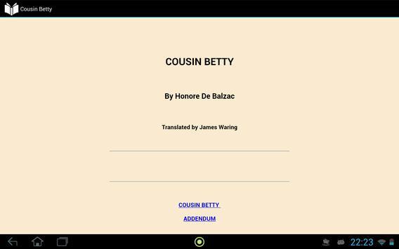 Cousin Betty apk screenshot