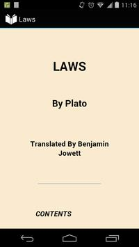 Laws by Plato poster