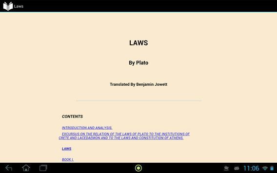 Laws by Plato apk screenshot