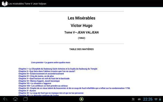 Les misérables Tome 5 apk screenshot