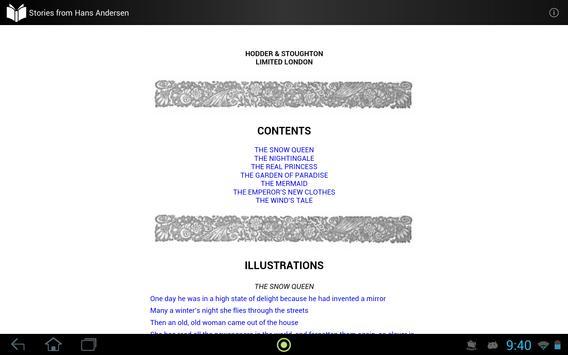 Stories from Hans Andersen apk screenshot