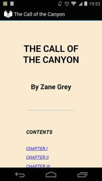 The Call of the Canyon poster