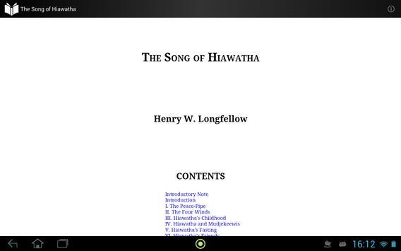 The Song of Hiawatha apk screenshot