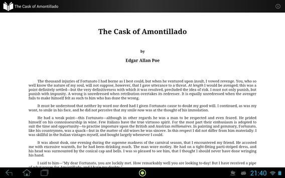 The Cask of Amontillado apk screenshot