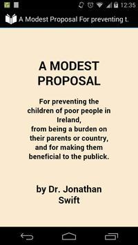 A Modest Proposal poster