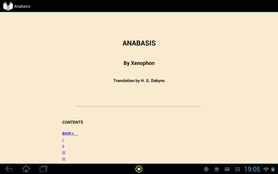 Anabasis by Xenophon apk screenshot