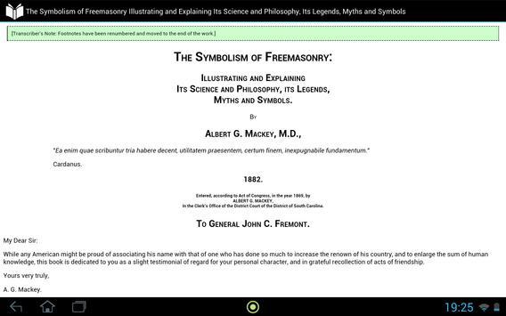 The Symbolism of Freemasonry apk screenshot