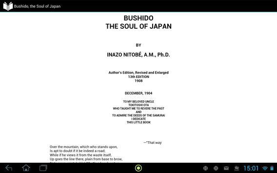 Bushido, the Soul of Japan apk screenshot
