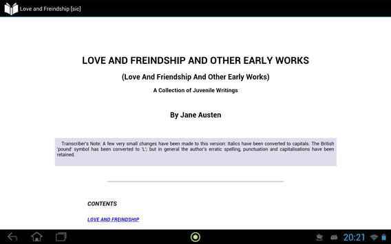 Love and Friendship apk screenshot