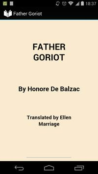Father Goriot poster
