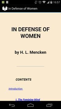 In Defense of Women poster