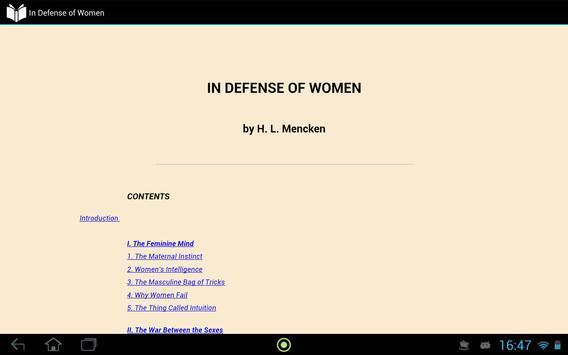 In Defense of Women apk screenshot