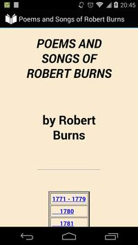 Poems, Songs of Robert Burns poster