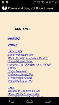 Poems, Songs of Robert Burns apk screenshot
