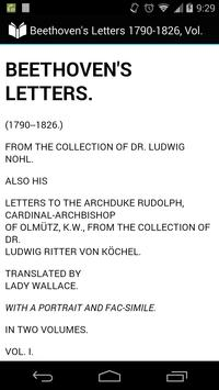 Beethoven's Letters, Volume 1 poster