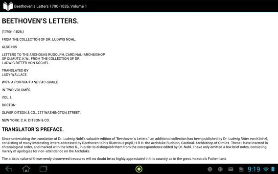 Beethoven's Letters, Volume 1 apk screenshot