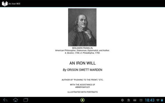 An Iron Will apk screenshot