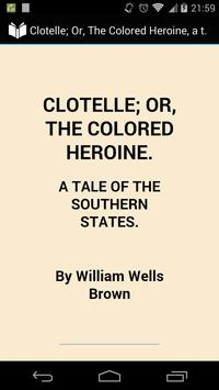 Clotelle: the Colored Heroine poster