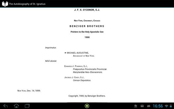 Autobiography of St. Ignatius apk screenshot