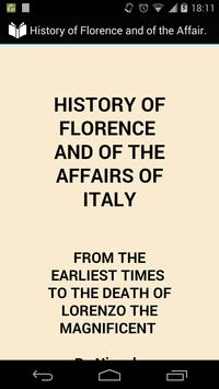 History of Florence poster