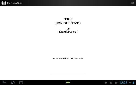 The Jewish State apk screenshot