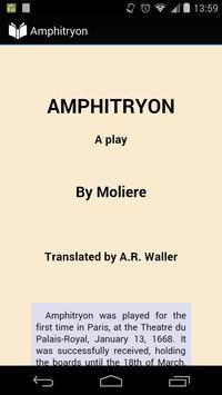 Amphitryon by Molière poster