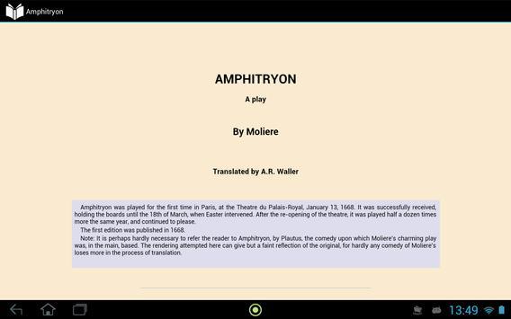 Amphitryon by Molière apk screenshot
