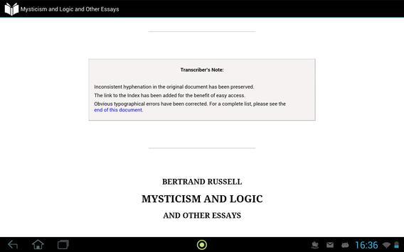 Mysticism and Logic apk screenshot