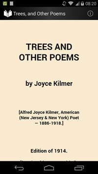 Trees, and Other Poems poster