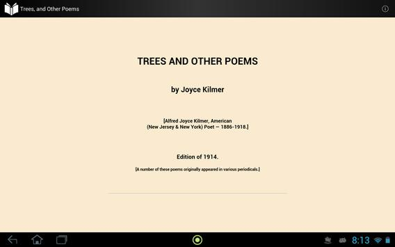 Trees, and Other Poems apk screenshot