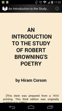 Study of Browning's Poetry poster