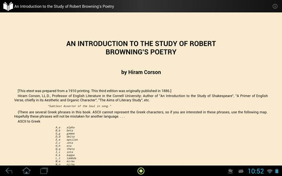 Study of Browning's Poetry apk screenshot