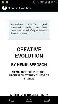 Creative Evolution poster