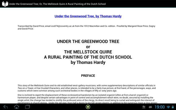 Under the Greenwood Tree apk screenshot