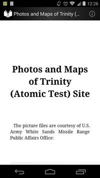 Photo and Map of Trinity Site poster