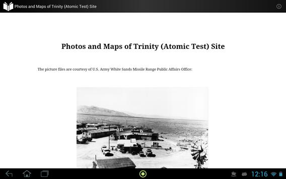 Photo and Map of Trinity Site apk screenshot