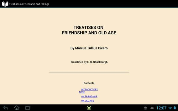 On Friendship and Old Age apk screenshot