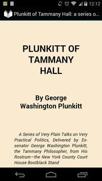 Plunkitt of Tammany Hall poster