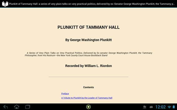 Plunkitt of Tammany Hall apk screenshot
