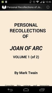 Joan of Arc  — Volume 1 poster