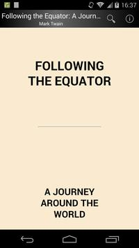 Following the Equator poster